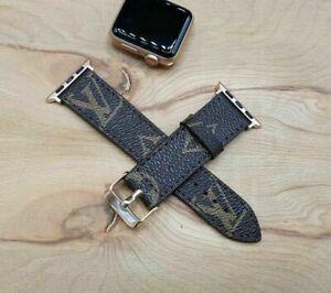 Handmade Louis Vuitton Apple watch band Series 6 5,4,3,2
