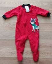 NWT Girl's or Boy's CARTER'S Red Reindeer Sleeper Pajama Outfit Size 18M