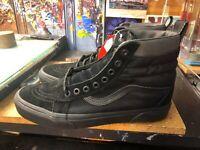 Vans Sk8-Hi MTE Ballistic Black Suede Size US 11.5 Men VN0A33TXRSR New