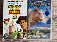 Kids Disney VHS Bundle ~ Toy Story 2 & Dinosaur ~ Combined Post $10