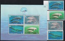 F-EX19836 THAILAND 1998 MNH OCEAN YEAR FISH SEA MARINE LIFE WHALE DOLPHINS MANAT