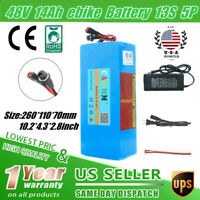 Ebike Battery 48V10Ah Lithium li-ion 700W Electric Bicycle Motor Scooter BMS USA