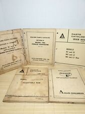 Allis Chalmers Dealers Parts Catalogs Various Vintage Manuals Lot Of 5 Tractor