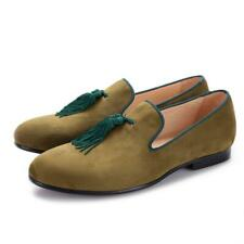 New Formal Mens Dress Casual Hot Suede Slip On Loafers Handmade Tassel Shoes