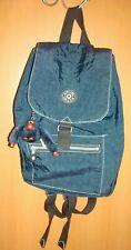 KIPLING Backpack Navy Nylon Drawstring Top, Flap Front Black Straps