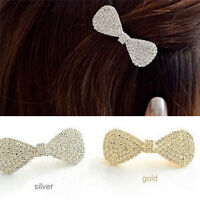 Mädchen Frauen Kristall Haarspange Haarspangen Bowknot Haarschmuck Mode  WCH