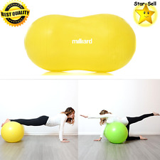 Anti Burst Peanut Ball Fitness Exercise Ball Labor Birthing Dog Training Yellow