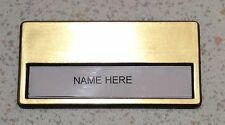 Reusable Name Badges PACK OF 10 - STAFF, VISITORS, CONFERENCES, CARE HOME..ETC