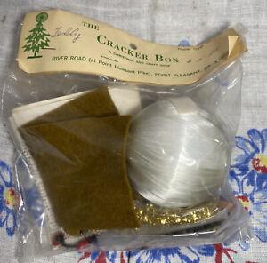 Vintage Cracker Box Beaded Christmas Ornament Kit ~ Teddy
