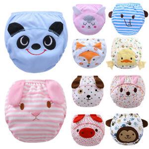 4pcs Toddler Baby Underwears Girl Boy Pee Potty Training Pants Cute Diaper Nappy