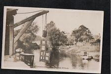 Fordwich Bridge On The Stour 1900's Postcard THE DUCKING CHAIR ~ SUPER IMAGE