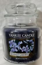 Yankee Candle MOONLIT GARDEN Medium Jar 14.5 Oz Blue Housewarmer Wax Floral