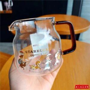 Starbucks Korea Sakura Coffee Mug Pear Blossom Glass Cup Milk Jug pot 570ml Gift