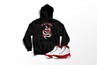 Culture Snake Graphic Hoodie to Match Air Jordan 9 Retro Red All Sizes