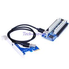 PCI-E Wireless Network Extender 32Bit Riser HUB Mini PCI Card 1x to 2 Port