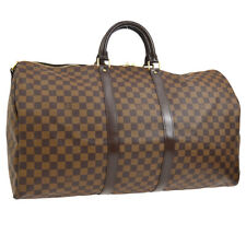 LOUIS VUITTON KEEPALL BANDOULIERE 55 2WAY TRAVEL HAND BAG DAMIER AK31831c