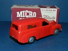 "MICRO MODELS plastic FJ Holden Panel Van Red "" Watsonia ""  New in Box"