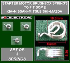 STARTER MOTOR BRUSH SPRING X 3 TO REPLACE MITSUBISHI NISSAN MAZDA KIA ETC
