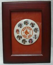"""BOSTON RED SOX LARGE 4"""" FRAMED PHOTO~ PIN >> INCLUDES 9 DIFFERENT RED SOX"""
