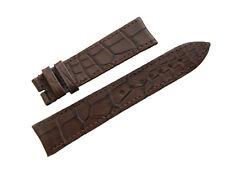 Original PIAGET Matte Brown Alligator Watch Strap 20mm Stitched Men's New