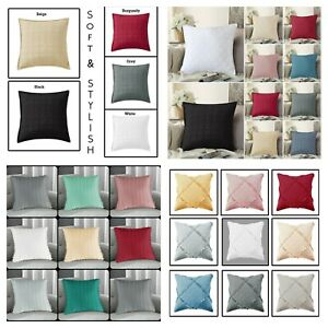 """Quilted Cushion Covers 18"""" x 18"""" Large Cushion Pillow cover OR Filled Cushions"""