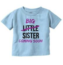 Big Little Sister Coming Soon Lil Older Sibling Funny Cute Toddler Infant T