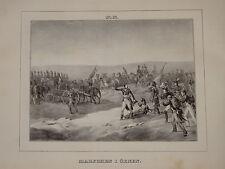 Litho Suèdoise NAPOLEON MARCHE DESERT CAMPAGNE EGYPTE EGYPT ARMEE EMPIRE 1820