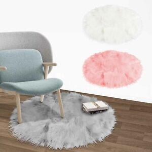 60 cm Faux Fur Fluffy Sheepskin Rugs Floor Carpet Living Room Mat Bedroom Shaggy