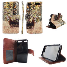 Flip Wallet Case Deer Camouflage for ipod touch 5 6 Gen Cash id Slot Stand Cover