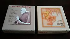 Vatican 5+10 euro silver Proof coins set 2011 Pope Benedict XVI NEW in boxes