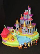 Polly Pocket 💛 1997 Disneys Belle Beauty and the Beast Castle bella Bestia