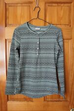 Columbia,  Long Sleeve,  Front Snap,  Top,  Women's M,  Green