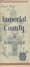 Old Vintage AAA Road Map IMPERIAL COUNTY California - before interstates R.E.K.