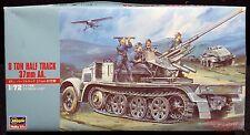 Hasegawa 31118  GERMAN ARMY HALF TRACK 8 Ton 37mm AA Gun WWII Military 6 Figures