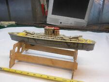 1950s MARX TIN LITHO TOY U.S.S. WASHINGTON SHIP Friction