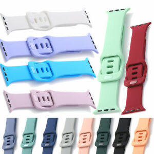 Soft Silicone Straps Wrist Bands Sport Bracelet For iWatch Series 7 SE 6 5 4 3 2