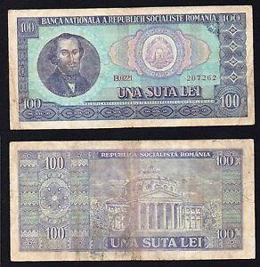 Romania  100 lei 1966 BB-/VF-  A-04