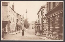 Postcard Shepton Mallet Somerset bank shops hotel Commercial Road by Witcombe
