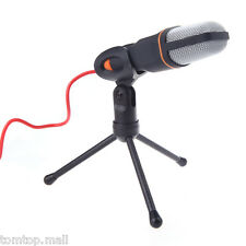 3.5mm Pro Audio Condenser Microphone Mic For PC Chat MSN SKYPE Sing Desk Tripod