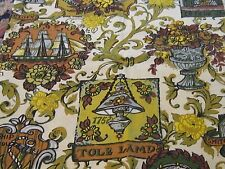 Funky vintage retro small piece old clock novelty fabric material sewing ship