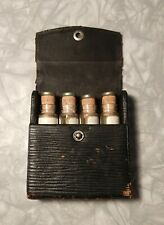 Antique Medical Doctors Leather Case with Glass Vials
