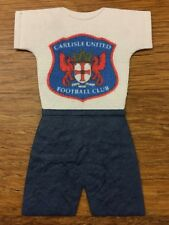 Craft Clearout 10 x Mulberry FOOTBALL KIT Team Toppers CARLISLE UNITED FC BNIP