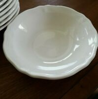 "Set 7 Harmony House Federalist Ironstone White Cereal Bowls 6 3/4"" UNUSED"