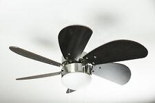 Ventilateur de plafond Turbo Swirl chrome de Westinghouse avec éclairage