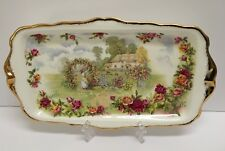 ❤ 1986 ROYAL ALBERT A CELEBRATION OF THE OLD COUNTRY ROSES GARDEN ENGLAND TRAY ❤