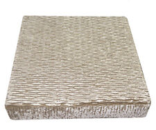 mp05t Pale Brown Gold Thick Folds Shimmer Velvet 3D Box Sofa Seat Cushion Cover