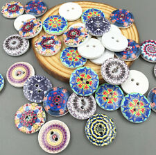 FREE DIY  20PCS Round Wooden Buttons Fit Sewing scrapbook Decorative craft 20mm