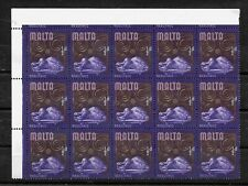 Malta, 1965 definitive 0.5d corner marginal block of 15 (8370)