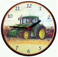 John Deere Tractor Battery Wall Clock