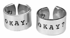 TFIOS Set Of Rings Okay Okay The Fault In Our Stars Inspired Rings A Pair of TWO